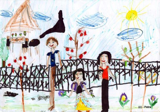 Familia mea, desen in carioca