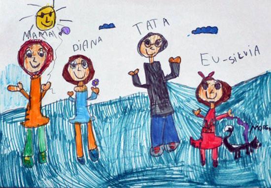 Silvia, Familia mea, desen in carioca