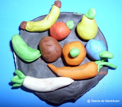 Fructe si legume de toamna. Modelaj