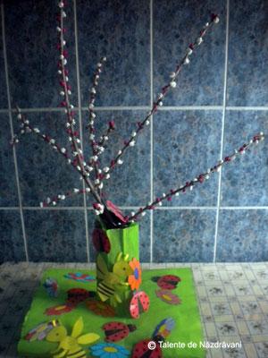 Copacel inflorit. Macheta de primavara. Spring tree