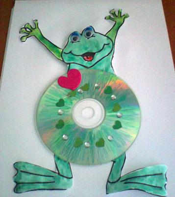 Idei de activitati cu cd-uri. CD craft ideas for children