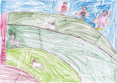 Cursa iepurasilor. Bunny race