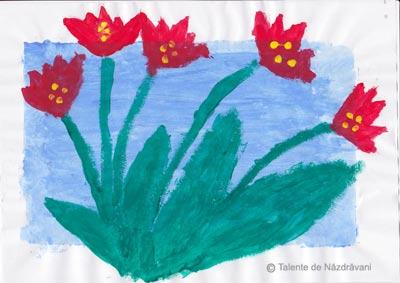 Tablou cu lalele. Tulip.