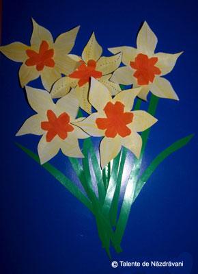 Tablou cu narcisa. Daffodils.