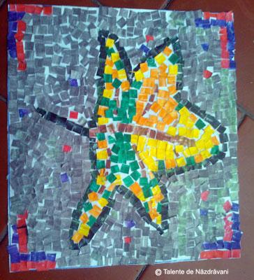 Covor de frunze. Mozaic.
