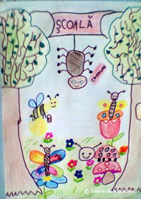 Desen de primavara cu insecte