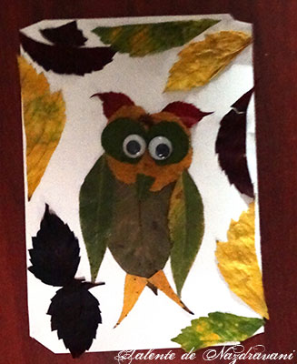 Owl. Leaves craft