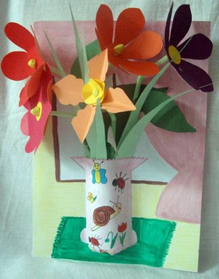 Glastra cu flori
